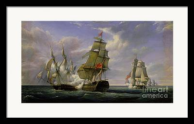 Warship Paintings Framed Prints