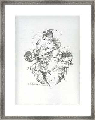 Combat Framed Print by Muriel Dolemieux