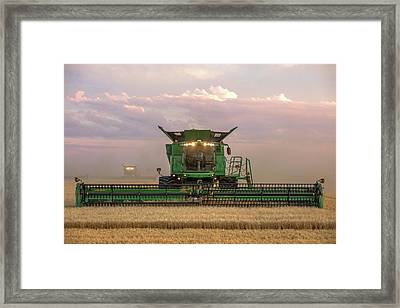 Combine Head On Framed Print