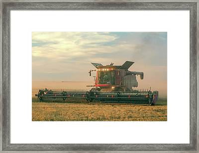 Combine In Dust Framed Print by Todd Klassy