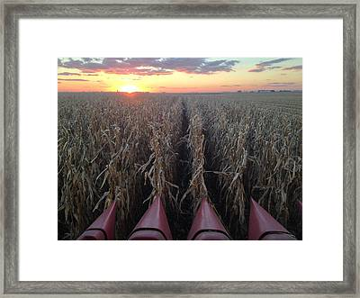 Combine Sunset H Framed Print