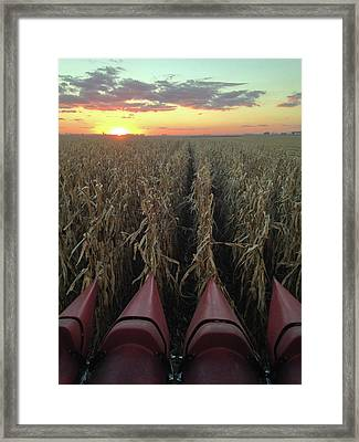 Combine Sunset V Framed Print