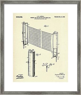Combined Case And Post For Lawn-tennis Nets-1908 Framed Print by Pablo Romero