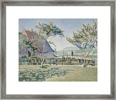 Comblat-le-chateau, The Meadow Framed Print by Paul Signac