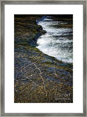 Combo A Stick And Water Framed Print by Stanton Tubb