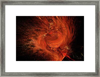 Combustion Framed Print