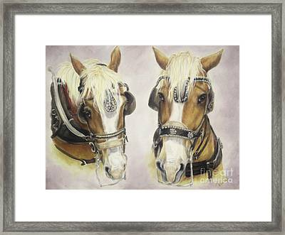 Come Along Little Sister Framed Print by Cathy Cleveland