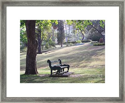 Come And Rest Awhile Framed Print
