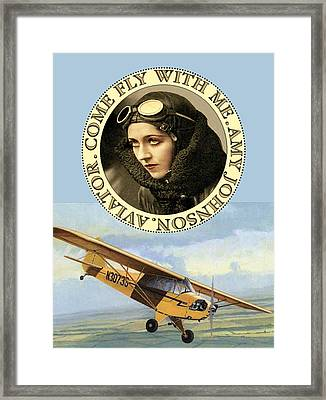 Come Fly Wth Me Vintage Aviator Framed Print