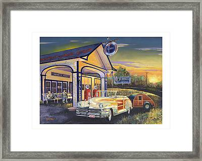 Come Get Your Kicks Framed Print by Mike Hill