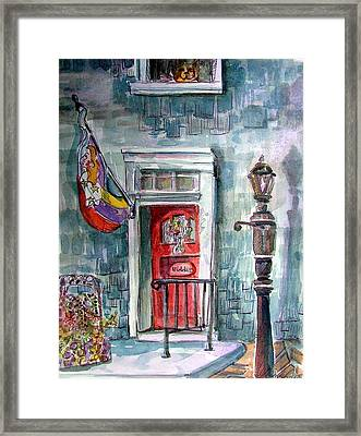 Come In Framed Print by Mindy Newman