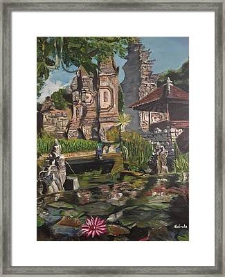 Framed Print featuring the painting Come Into My World by Belinda Low