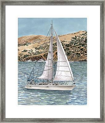 Come Monday Sailing Yacht Framed Print by Jack Pumphrey