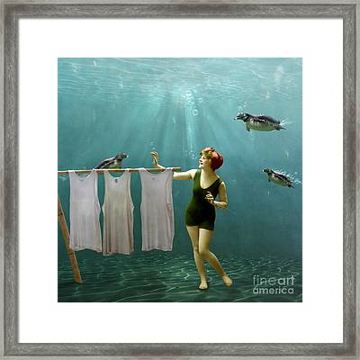 Come On Darlings It's Almost Dry Framed Print by Martine Roch
