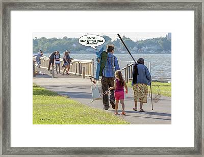 Come On - Keep Up The Pace Grandma Framed Print