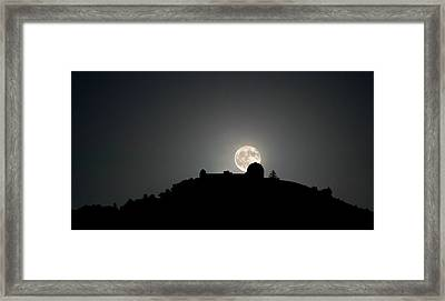 Framed Print featuring the photograph Come On You Stranger, And Shine In On Lick Observatory by Peter Thoeny