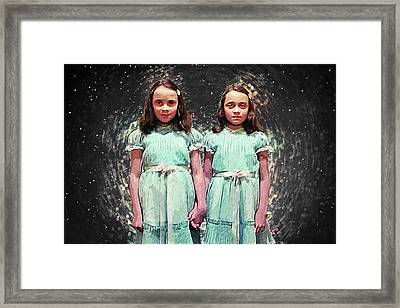 Come Play With Us - The Shining Twins Framed Print