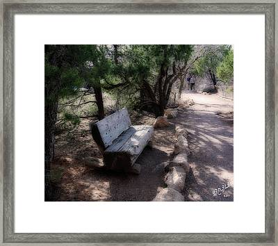 Framed Print featuring the photograph Come Rest A While by Barbara MacPhail