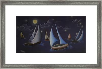 Come Sail Away Framed Print by Amanda Clark