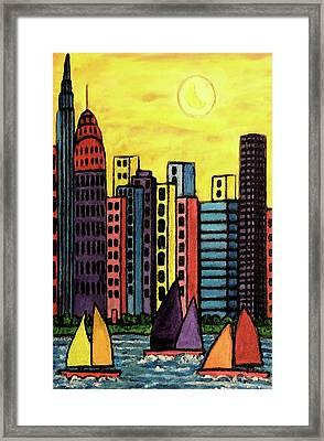 Come Sail Away Framed Print by Monica Engeler