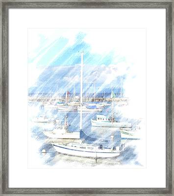 Framed Print featuring the photograph Come Sail With Me by Barbara MacPhail