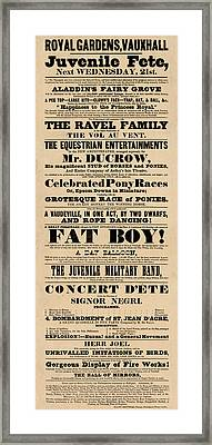 Come See The Fat Boy Framed Print