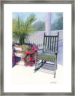 Come Sit A Spell Framed Print by Janet King
