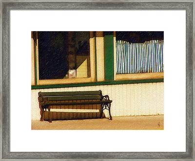 Come Sit A Spell Framed Print by Sandy MacGowan