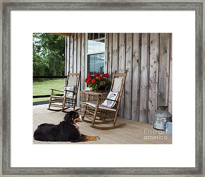 Come Sit A While Framed Print by Barbara McMahon