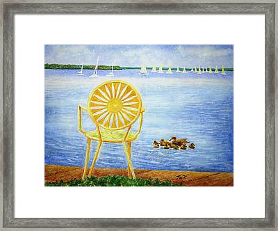 Come, Sit Here Framed Print by Thomas Kuchenbecker