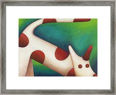 Come Spot Come Framed Print by Mary Anne Nagy