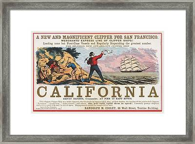 Come To California Framed Print by Stephen Stookey