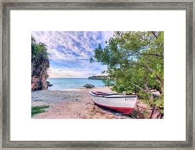 Come To Curacao Framed Print