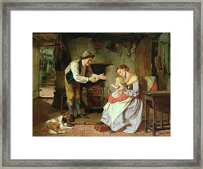 Come To Daddy Framed Print by William Henry Midwood
