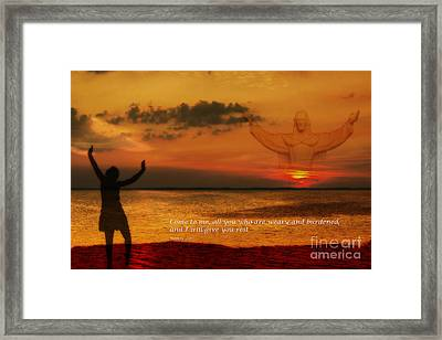Come To Me All You Who Are Weary Framed Print by Randy Steele