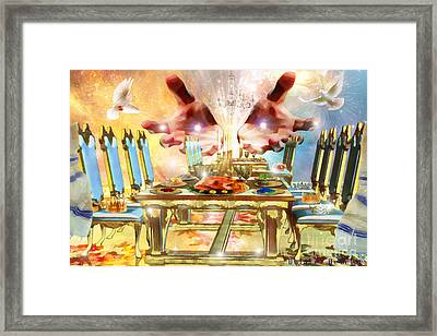 Come To The Banquet Table Framed Print by Dolores Develde