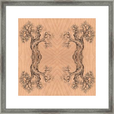 Come Together Tree 38 Hybrid 1  Framed Print