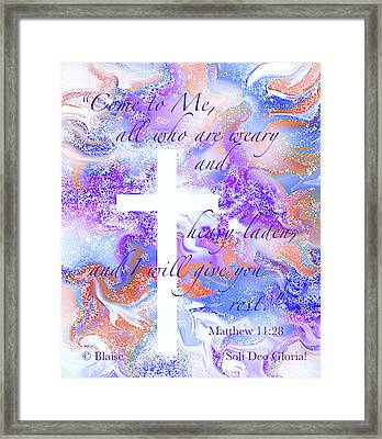 Come Unto Me Framed Print