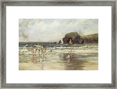 Come Unto These Yellow Sands Framed Print by Thomas Maybank