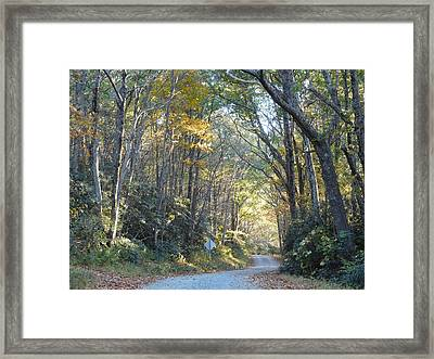 Come Walk Into Autumn With Me Framed Print