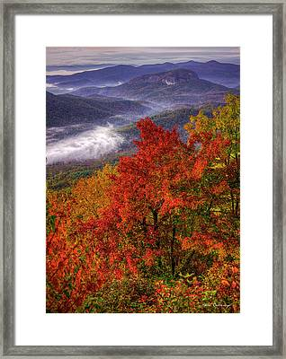 Come With Me Looking Glass Rock Blue Ridge Mountain Parkway Art Framed Print