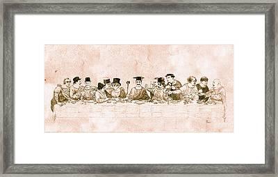 Comedy's Last Supper Framed Print by Tom Dudzick
