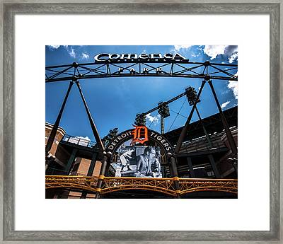 Framed Print featuring the photograph Comerica Park by Onyonet  Photo Studios