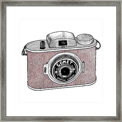Comet Camera Framed Print by Karl Addison