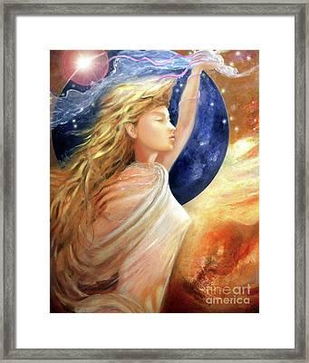 Comet Dreamer Ascend Framed Print