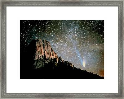 Framed Print featuring the photograph Comet Hale-bopp by Perspective Imagery