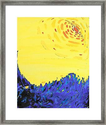 Framed Print featuring the painting Comet by Lenore Senior