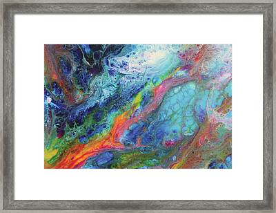 Comet Of Delight Close Up Framed Print