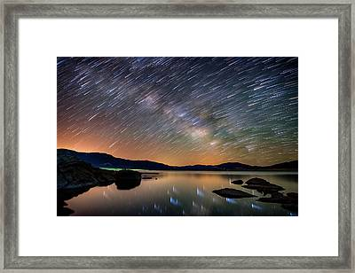 Comet Storm - Colorado Framed Print by Darren White