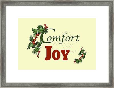 Comfort And Joy Framed Print